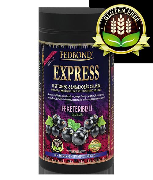 FEDBOND® EXPRESS Feketeribizli ízű diétás fehérjeturmix 15 adag főétkezés egy dobozban